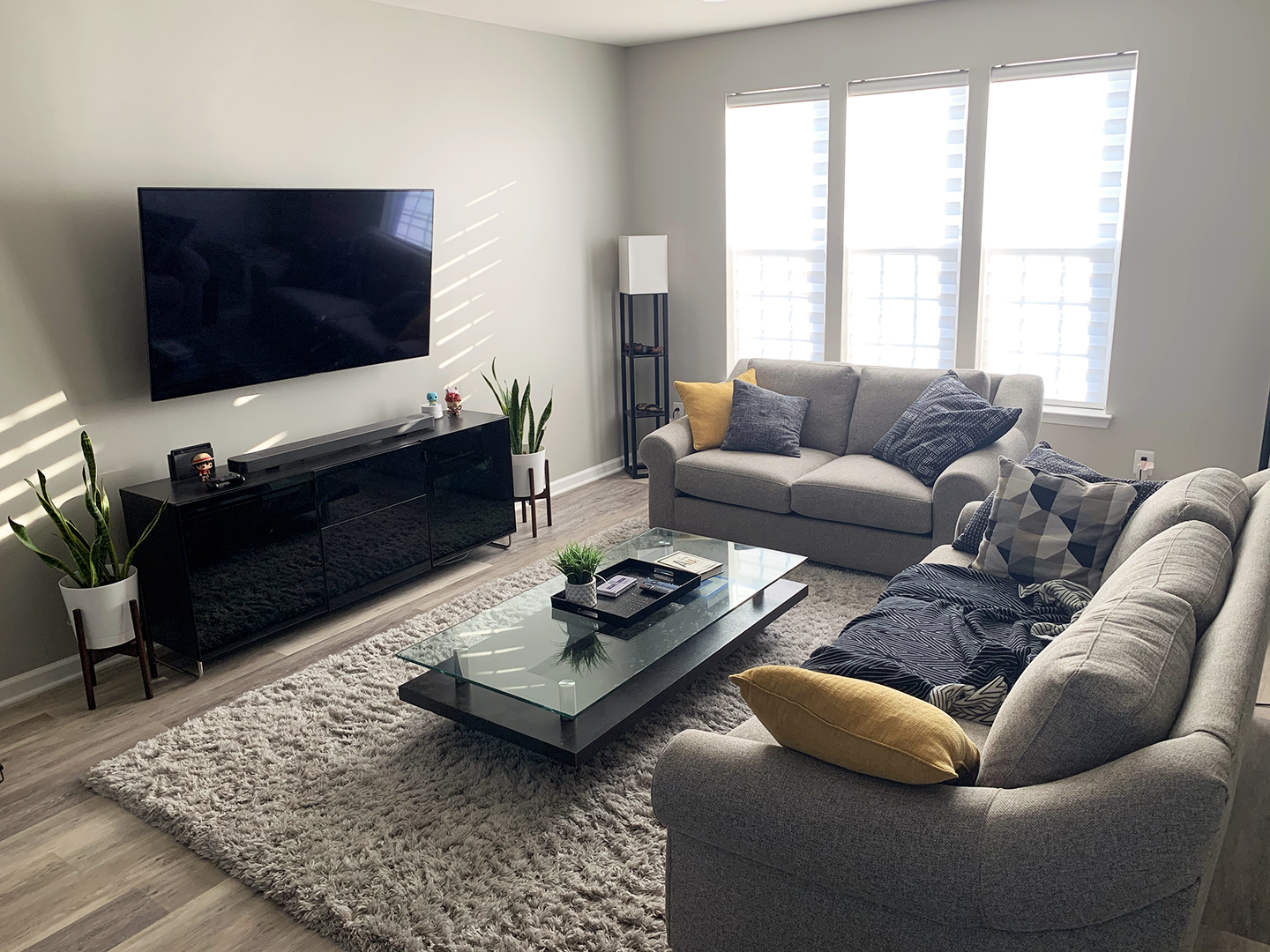 Bare Walls But Coming Along Nicely Interior Living Space Desig Apartment Living Room Design Interior Design Living Room Small Living Room Design Small Spaces [ 1080 x 1440 Pixel ]