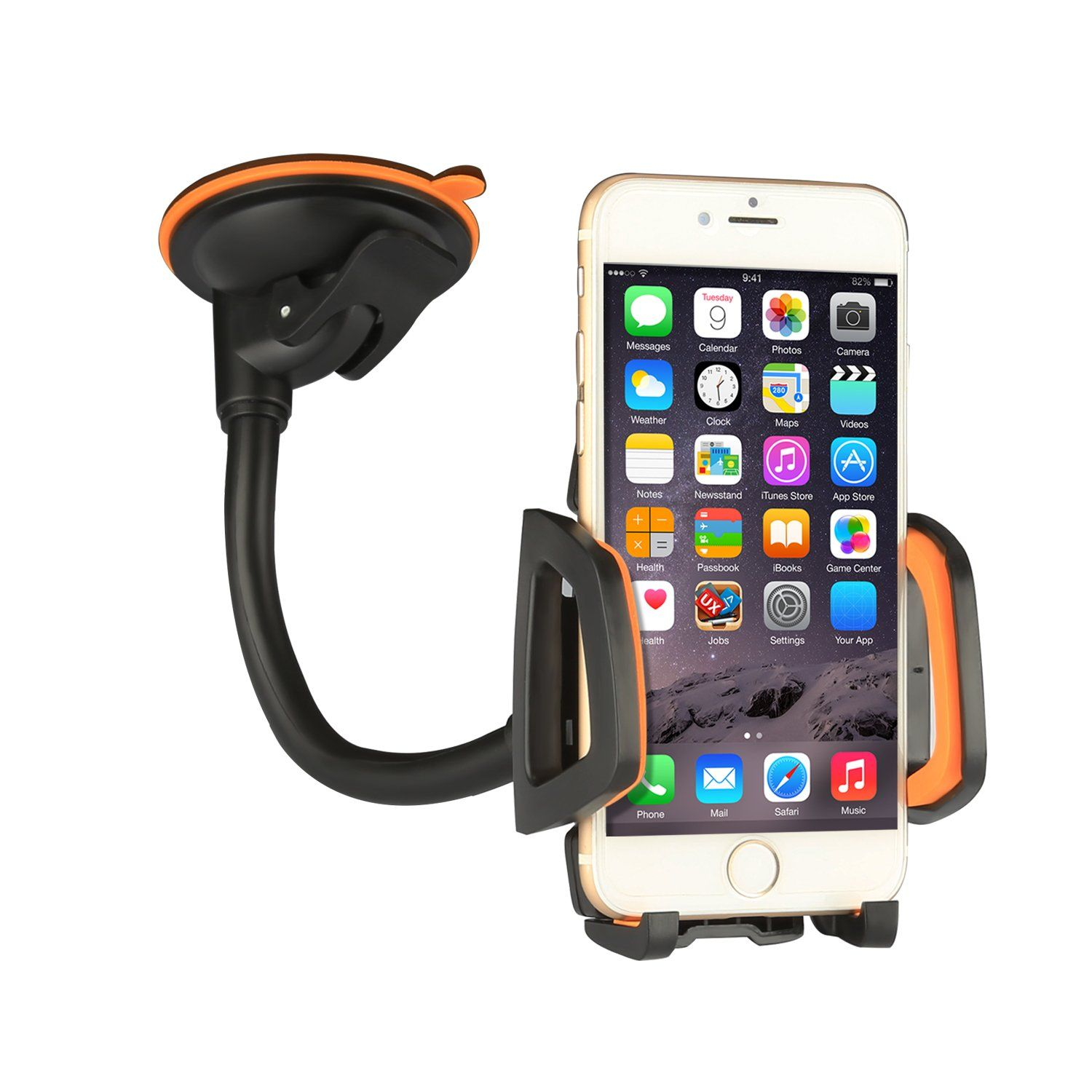 Car mount car holder universal flexible 360 rotating windshield cell phone holder cradle car accessories for