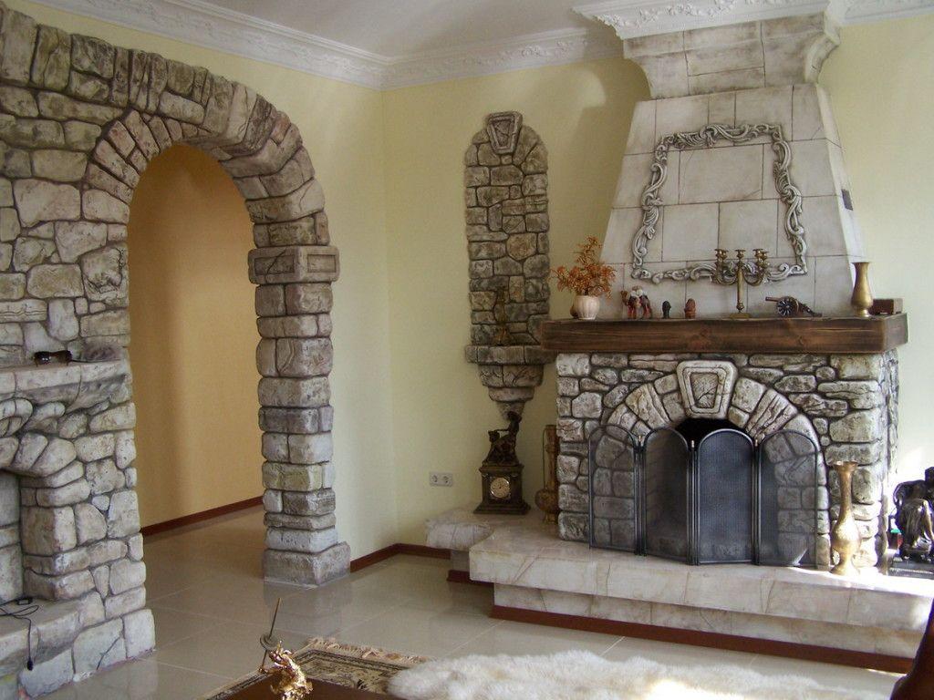 Furniture Ideas Classic Themed Brick Fireplace With Grey Stone Color Verified Designs Gemauerter Kamin Kaminumrandung Kamin Dekor