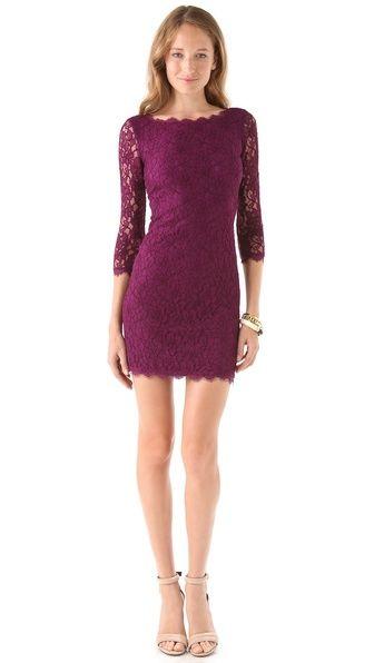 Diane von Furstenberg Zarita Lace Dress, $325. Option #2 for