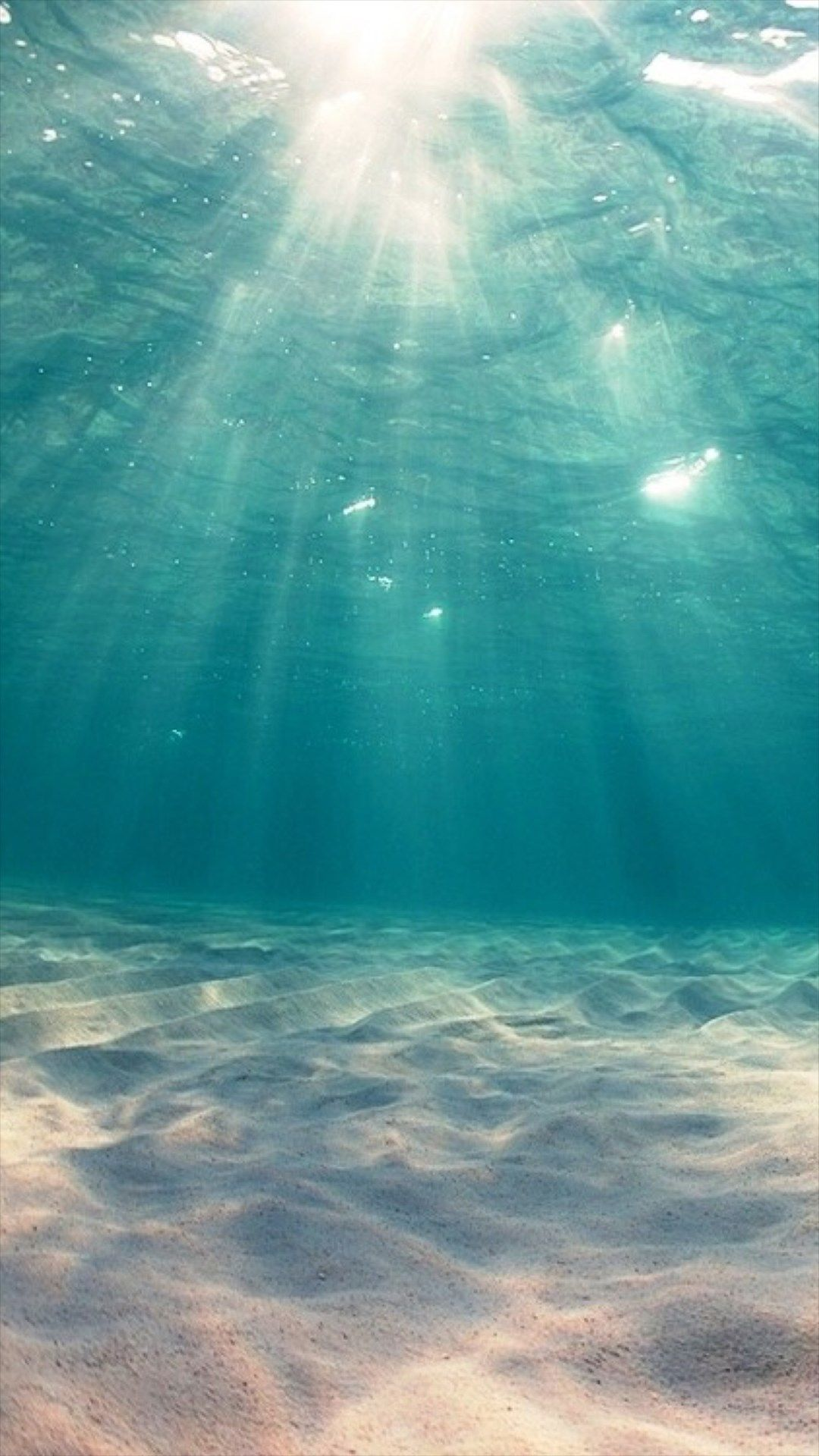 Sunshine Undersea Ocean View Deep Iphone 6 Plus Wallpaper