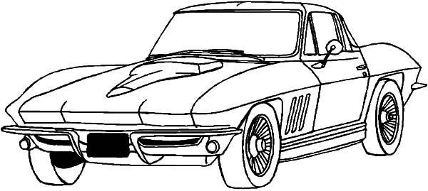 Corvette Cars Drifting Corvette Cars Coloring Pages