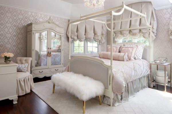 Idee Deco Chambre Adulte Romantique Lit Style Victorien