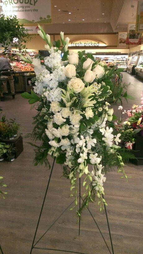 White Funeral Spray Funeral Flower Arrangements Funeral Floral Arrangements Funeral Flowers