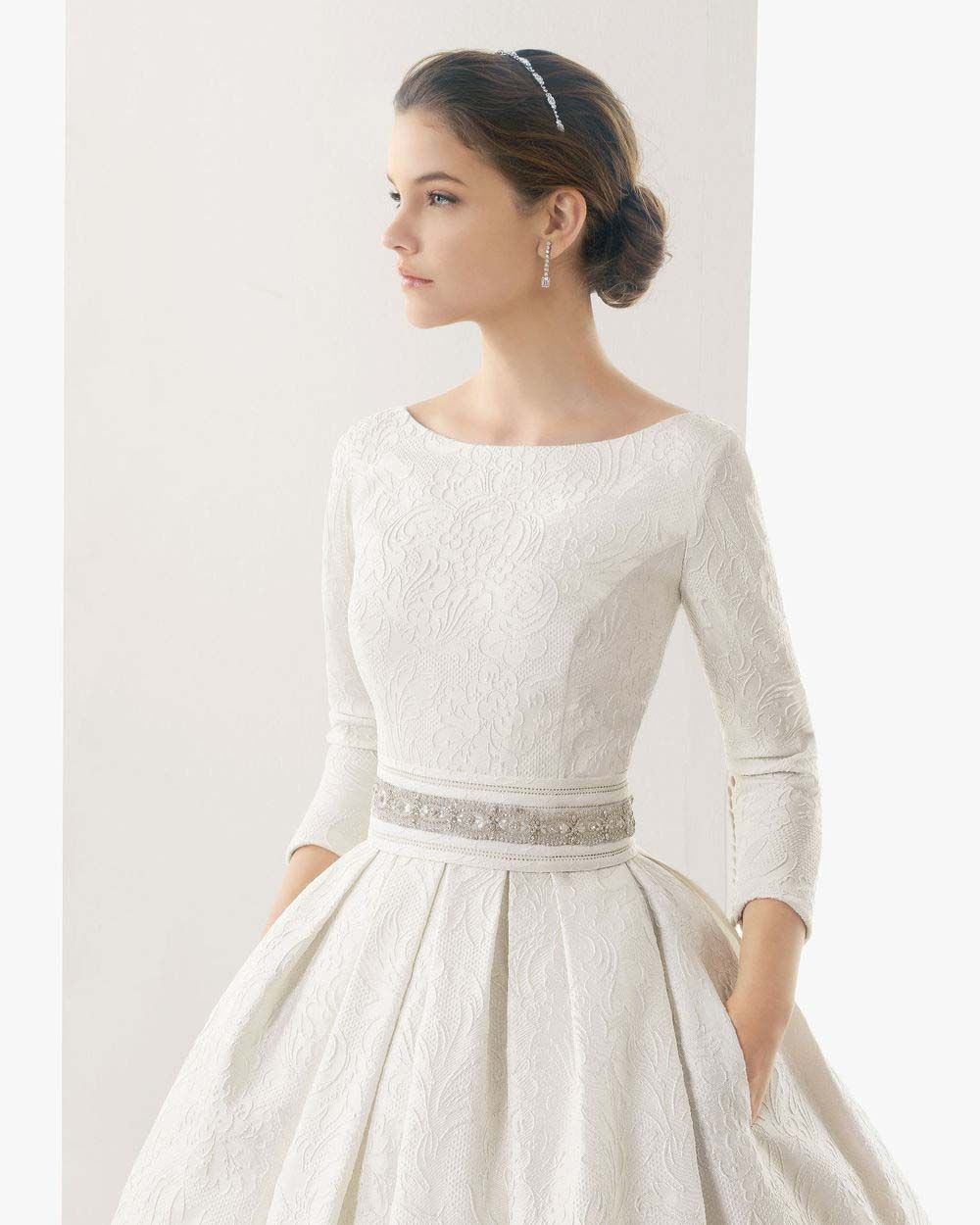 A Simple Audrey Hepburn Style Wedding Dress