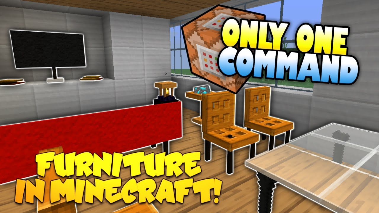 Furniture In Minecraft No Mods Only One Command Block