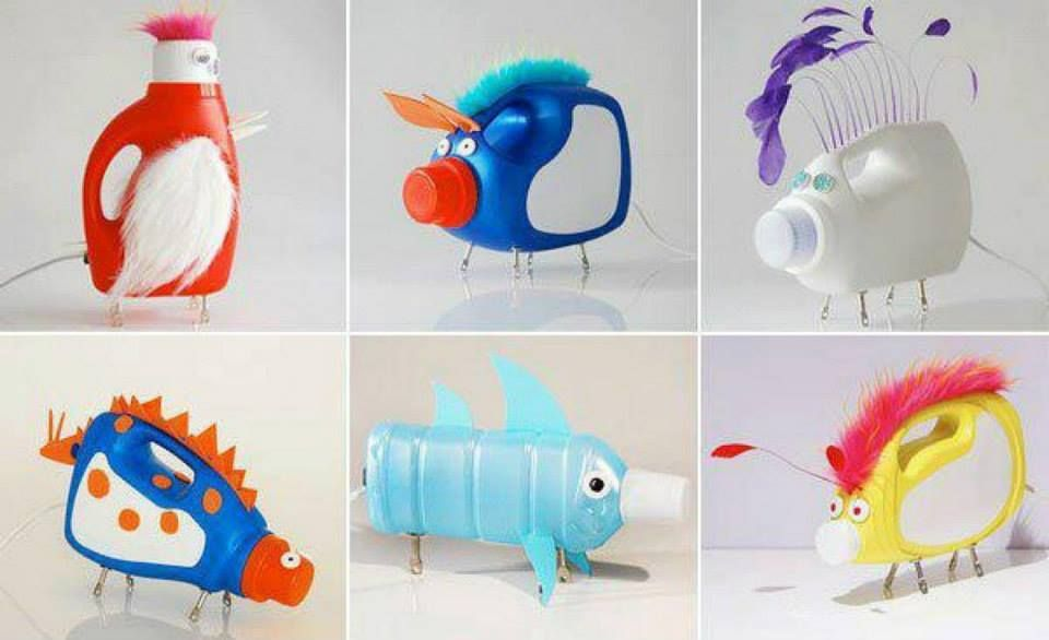 Toy animals made with recycled materials stuff for for Things to make out of recycled items