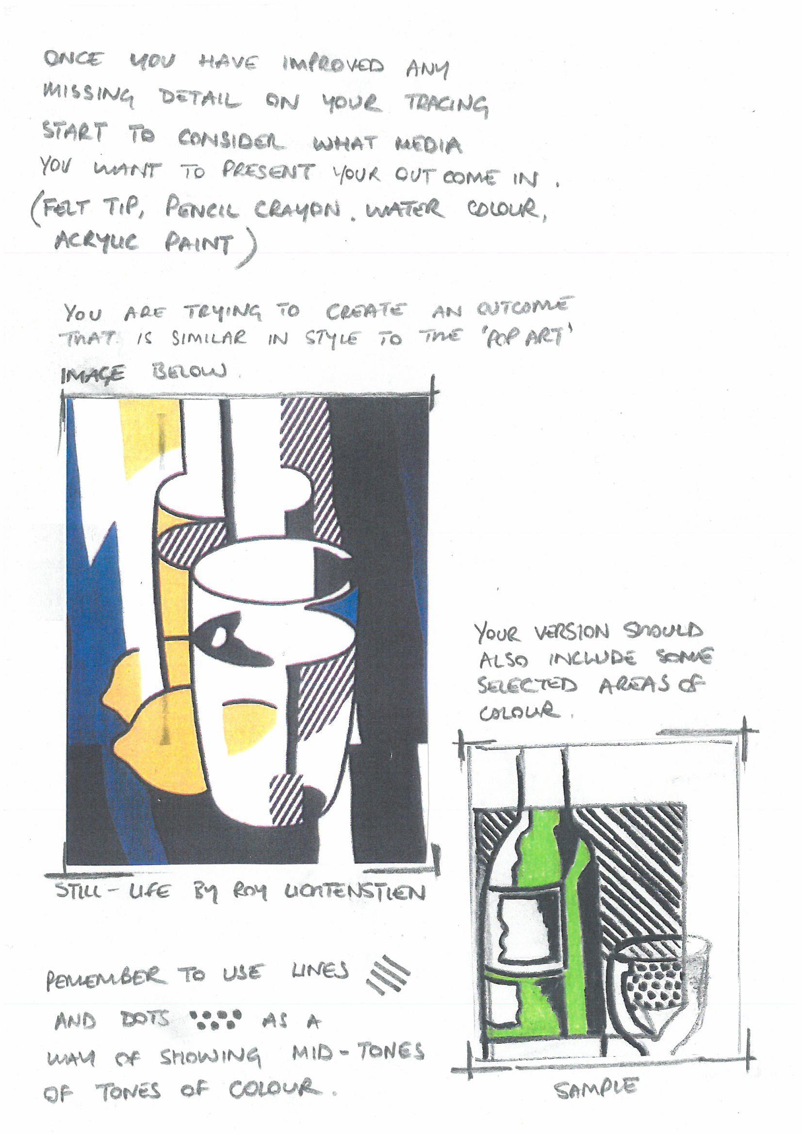 Pop Art Style Help Sheet 2 In