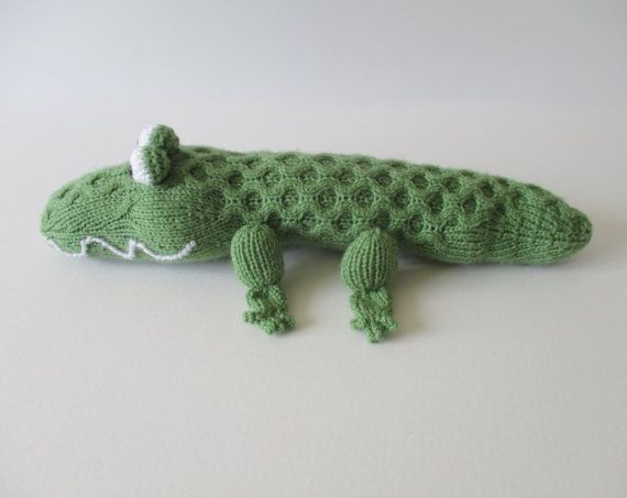 Hook Knitting Patterns : Miles the crocodile toy knitting pattern by fluffandfuzz on etsy