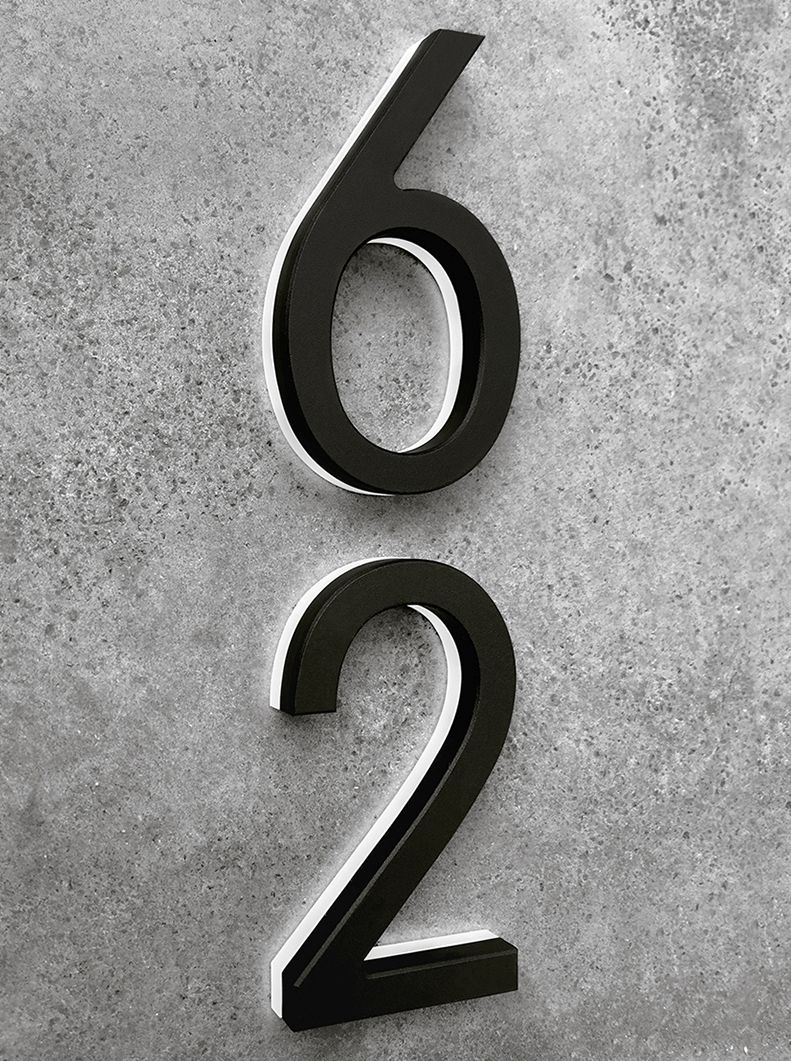 Luxello LED Black House Number 8 Black house Address numbers