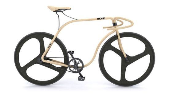 Thonet Bent Beech Wood Fixie Bike 02