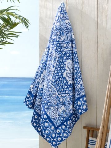 Rl Textured Mosaic Beach Towel Price 125 00 Sale Price 87 50