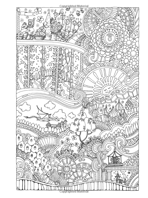 Amazon Com Creative Haven Insanely Intricate Entangled Landscapes