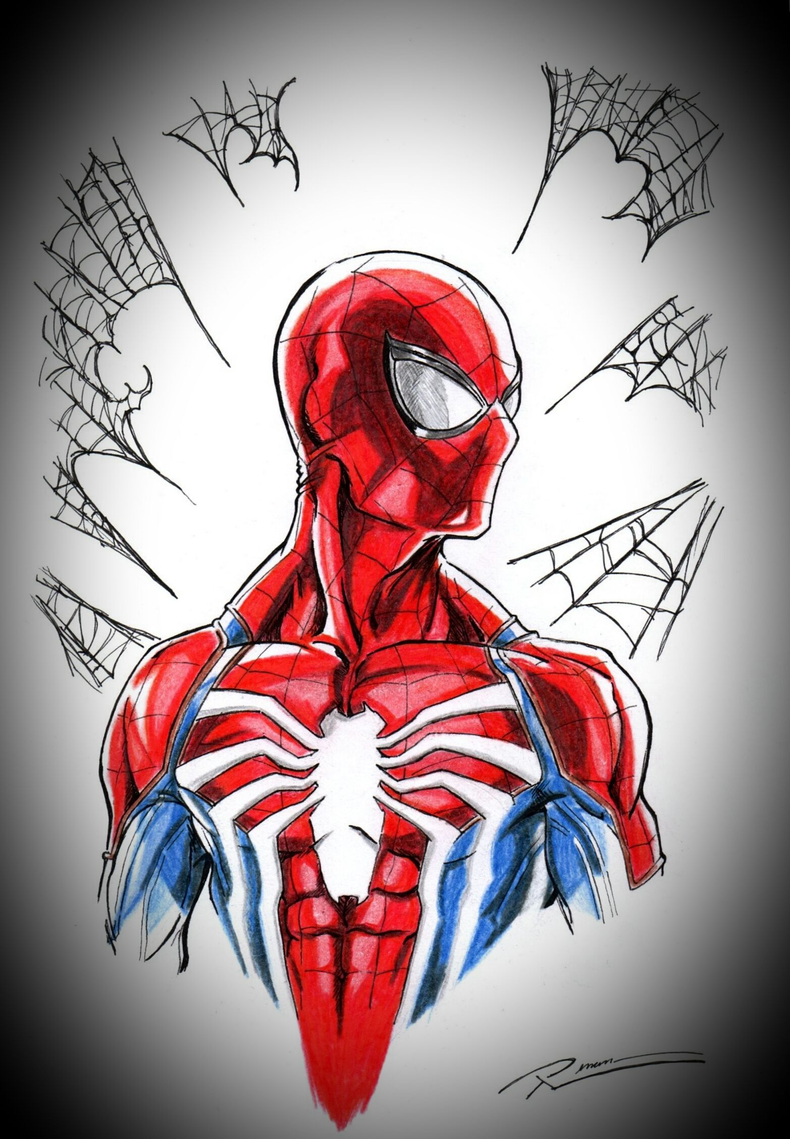 Power And Responsibility By Renan Camilo Spiderman