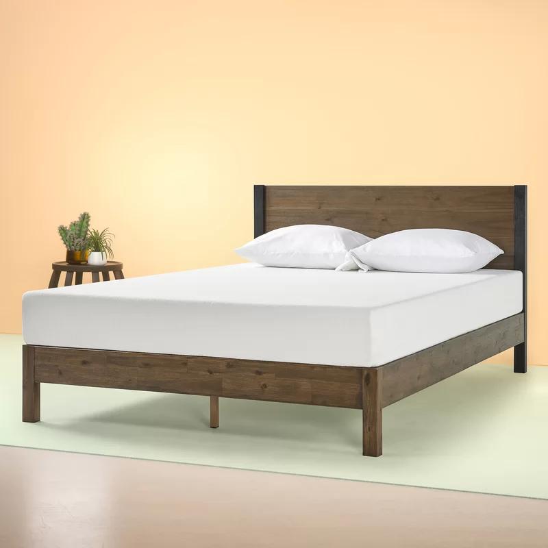 Prinsburg Wood Platform Bed In 2020 Headboards For Beds Wood