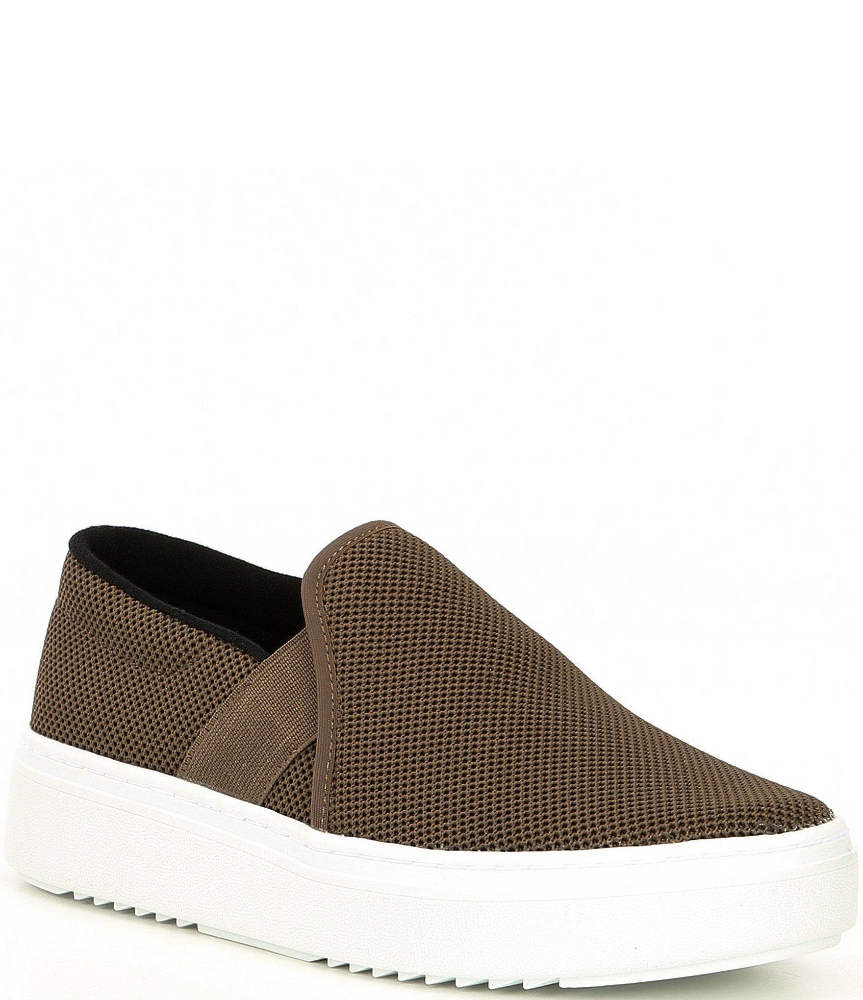 From Eileen Fisher, the Pep Stretch Platform Slip On Sneakers feature:Stretch fabric upperSlip onLeather liningRubber outsoleapprox. 1.57
