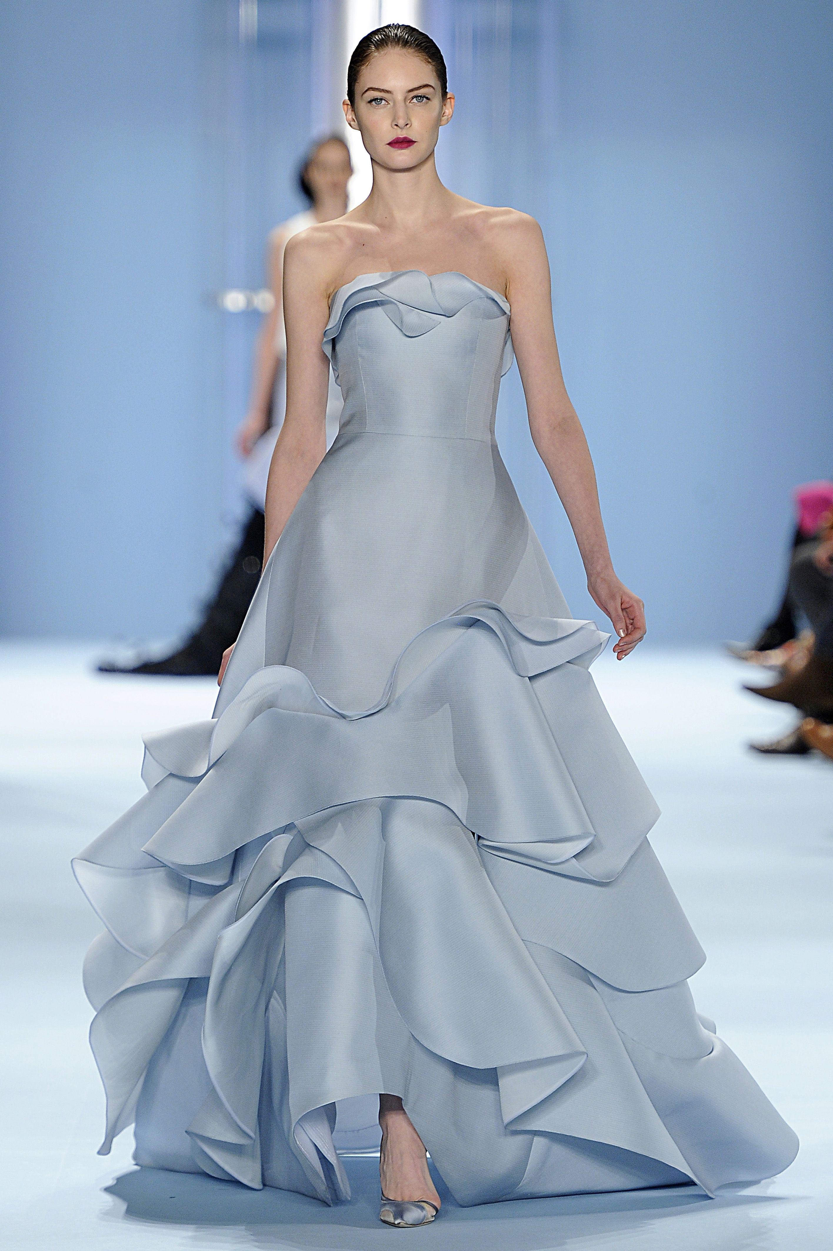 Look 41 - Auguste - Illusion blue silk bazaar wave gown by Carolina ...