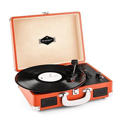 Peggy Sue platine vinyle portable design retro 2 haut-parleurs intégrés et port USB pour numérisation MP3 (sortie RCA, 33/45/78 tours) –…