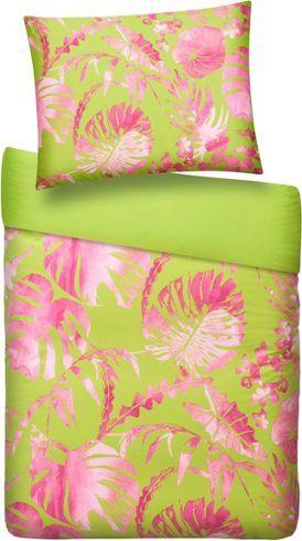 Bettwasche Aus 100 Polyester Mikrofaser In Der Farbe Grun Pink B