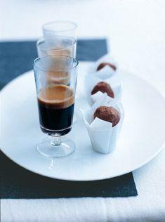 Chocolate ginger truffles pinned by Keva xo.