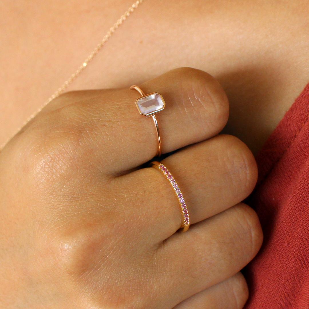 Aphrodite Rose Quartz Ring – MishaHawaii
