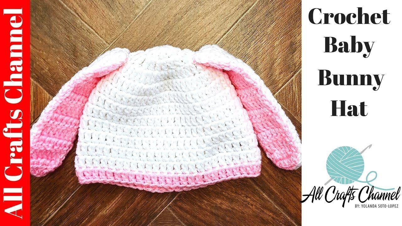 How to #crochet bunny hat - YouTube | Baby crochet | Pinterest ...