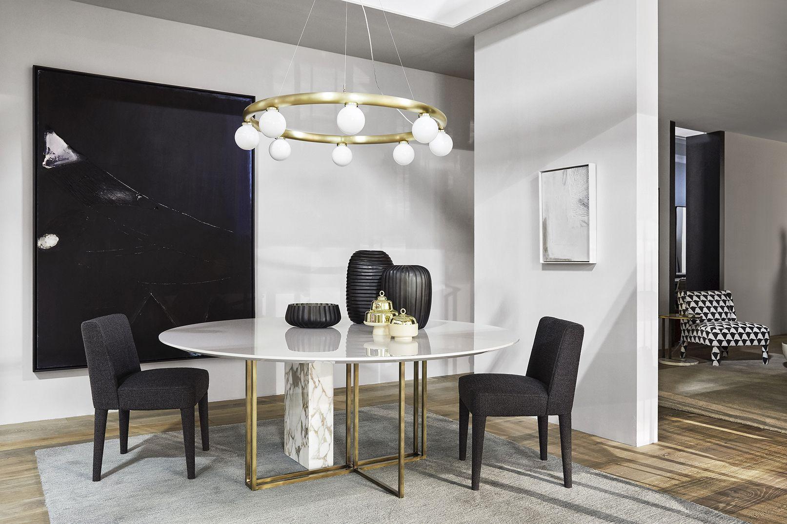 Albano Mobili ~ Meridiani i plinto dining table i kita dining chairs 现代简约