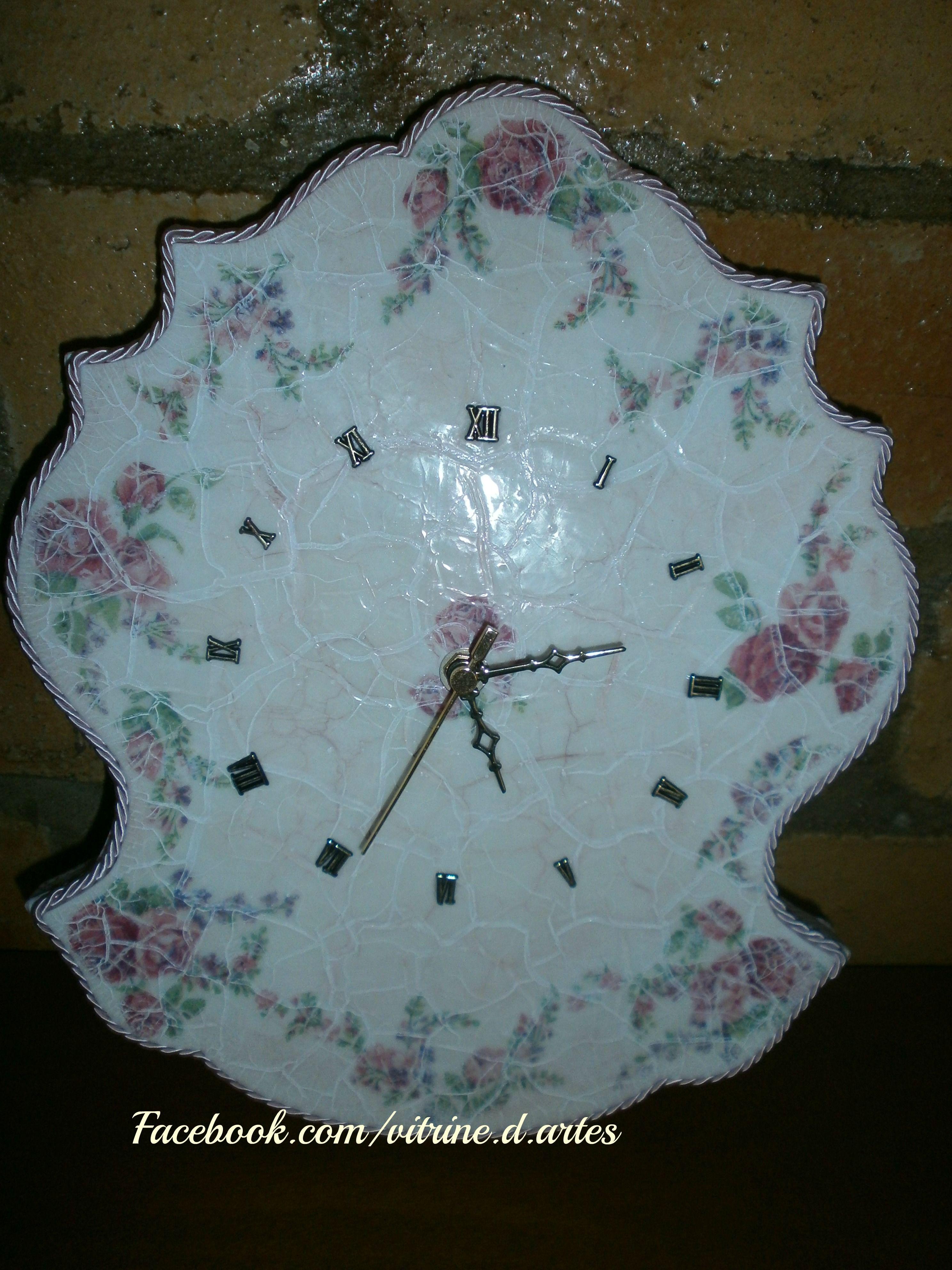 Relógio romântico de parede