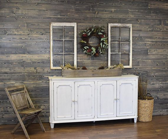 Shiplap Wall Weathered Gray Feature Accent Wood Modern Farmhouse Decor