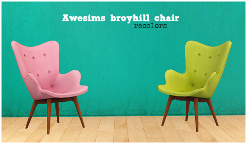 Awesims Broyhill Chair Recolors Mesh Included. Credit: M0xxa, Eversims  Download