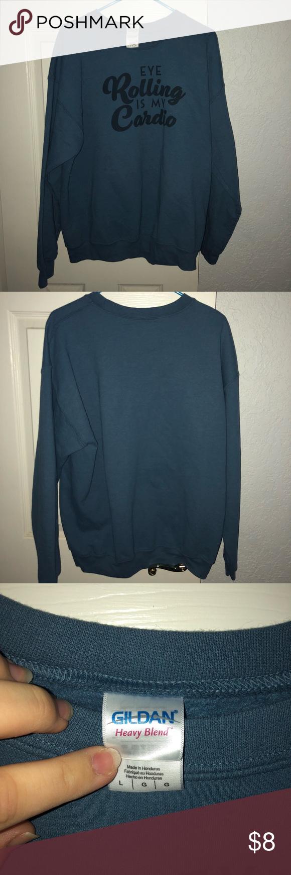 Gildan Eye Rolling Is My Cardio Sweatshirt Sweatshirts Womens Crewneck Sweatshirt Fleece [ 1740 x 580 Pixel ]