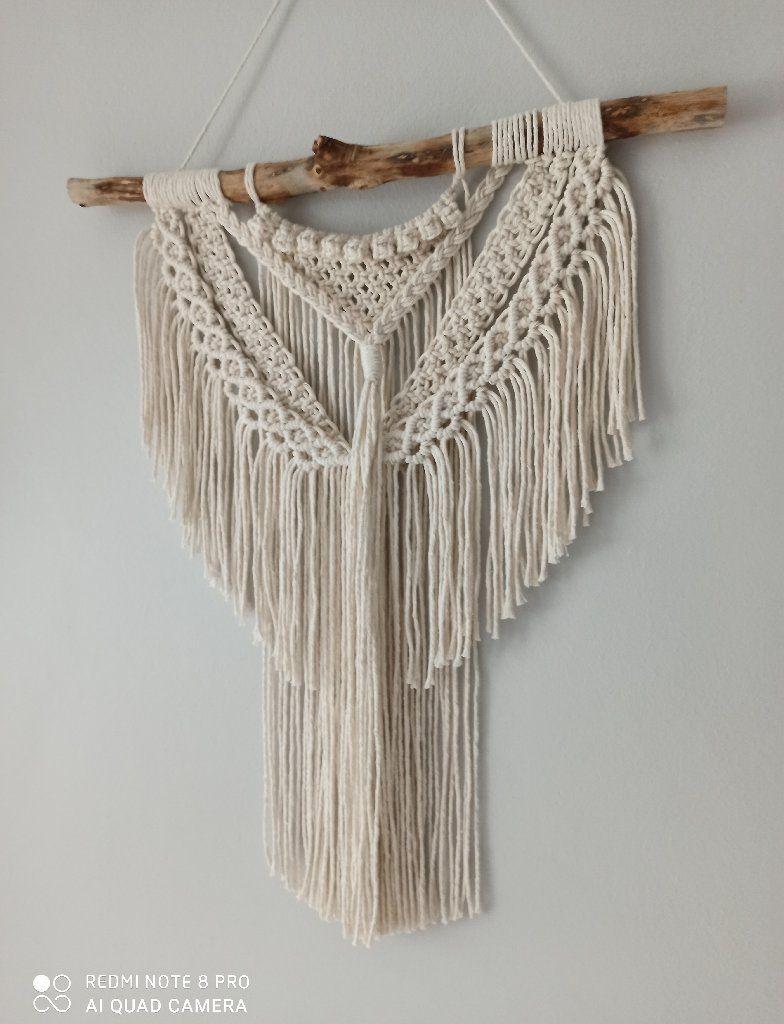 Makrama Na Sciane Zawieszka Dekoracja Boho Kup Teraz Za 36 00 Zl Legnica Allegro Lokalnie Crochet Scarf Macrame Crochet