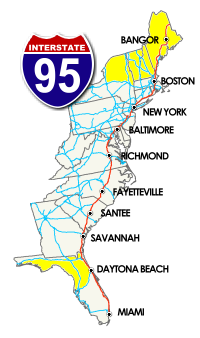 The I 95 Exit Information Guide Stopovers East Coast Road Trip East Coast Travel Road Trip