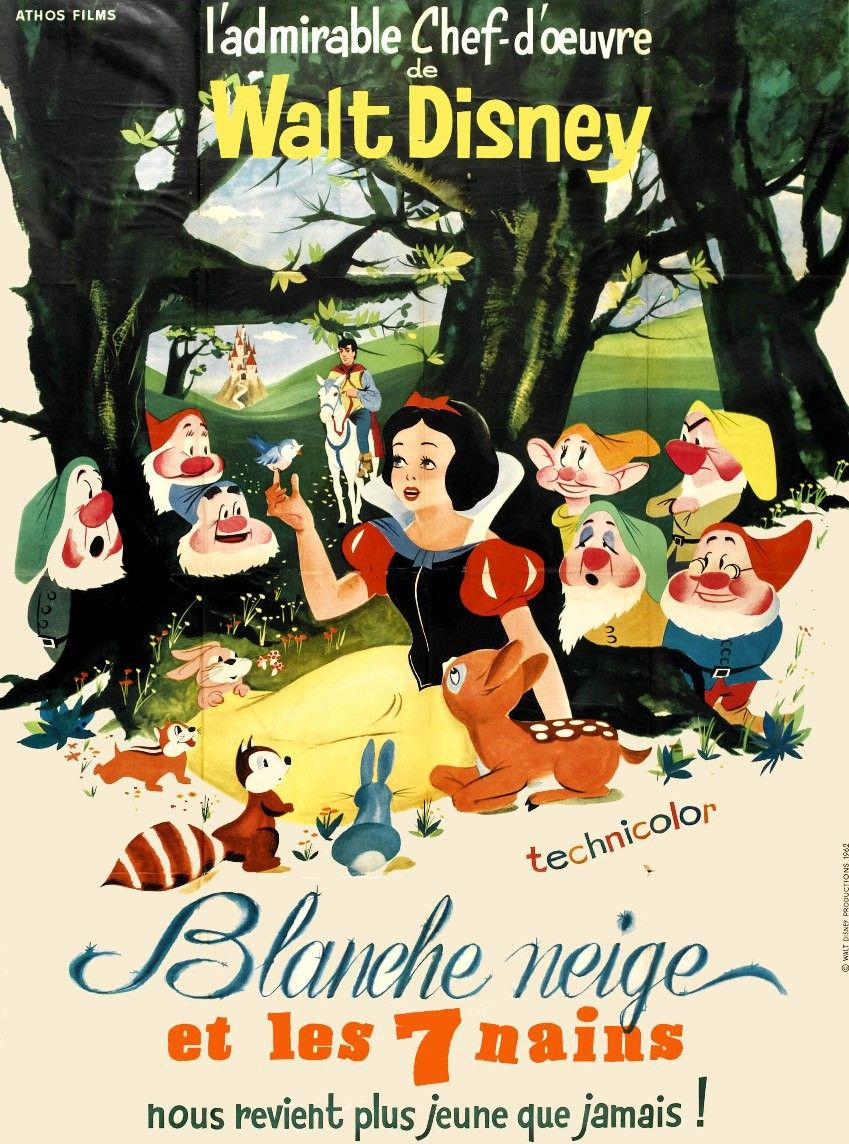 Blanche Neige Et Les 7 Mains : blanche, neige, mains, Affiche, Blanche-Neige, Nains, Disney, Movie, Posters,, Classic, Movies