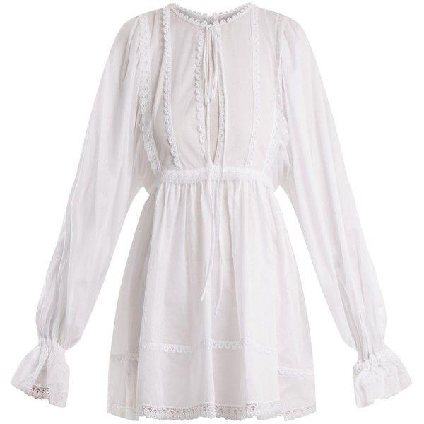 Cotton-mousseline lace-trimmed gown Dolce & Gabbana FT0f0q