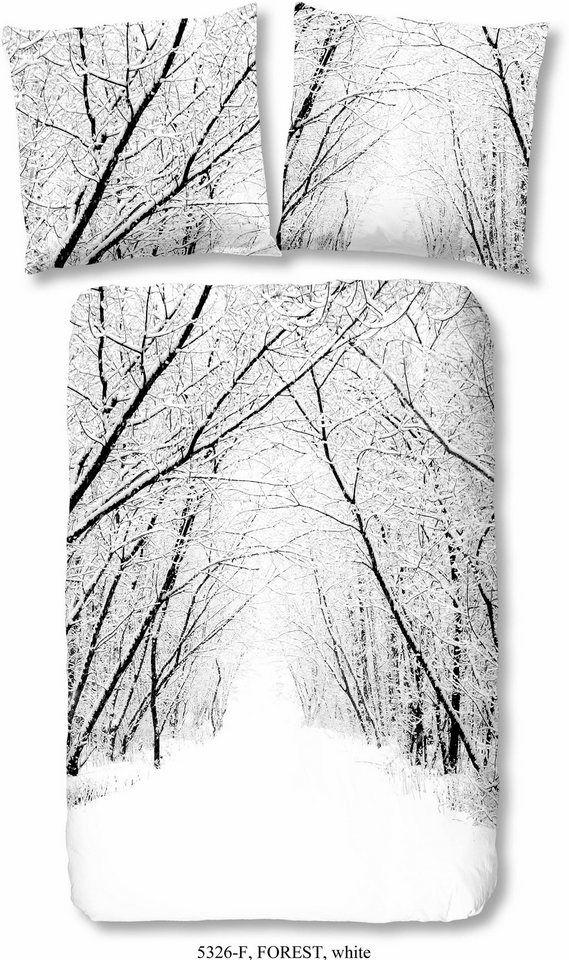 Bettwäsche Good Morning Forest Mit Schneelandschaft Motiv