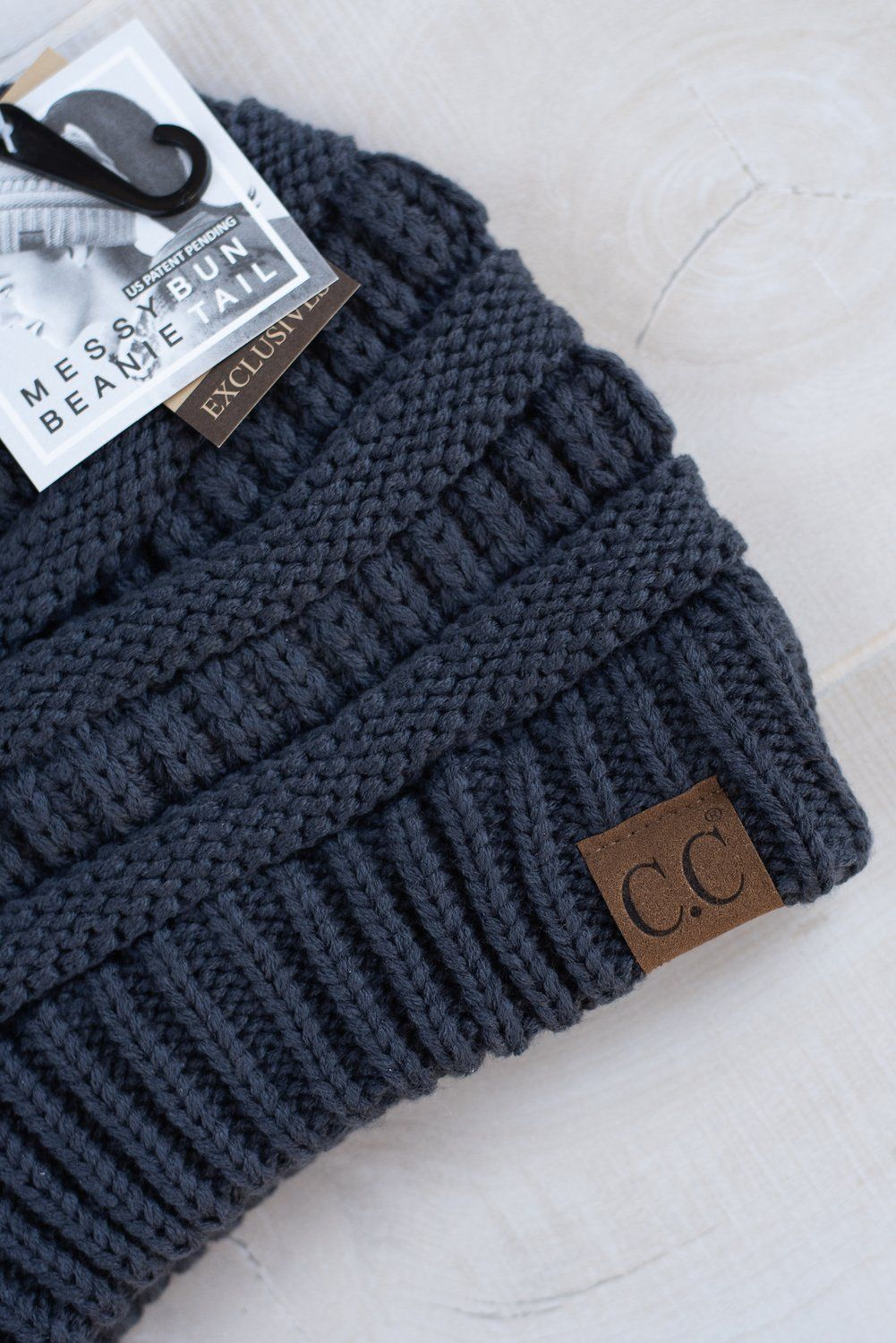 01921e872a9 C.C. Ponytail Beanie ~ Dark Grey available at J. Lilly s Boutique or  jlillysboutique.com