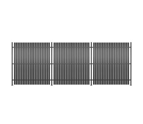 vidaXL Zaunelement 3 Stk. Aluminium 540 x 180 cm Anthrazit