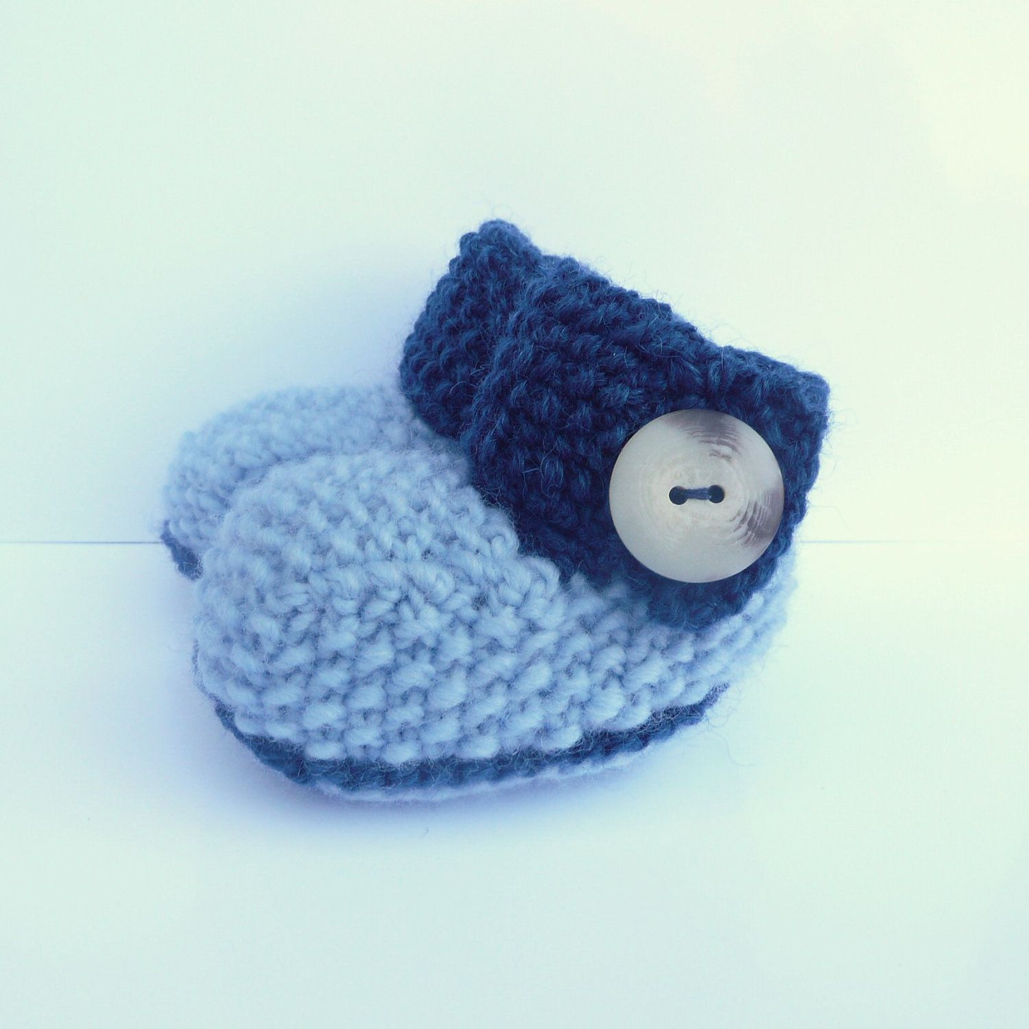 BABY BOOTIES Knitting PATTERN Big Button Baby Boots $4 00 via Etsy