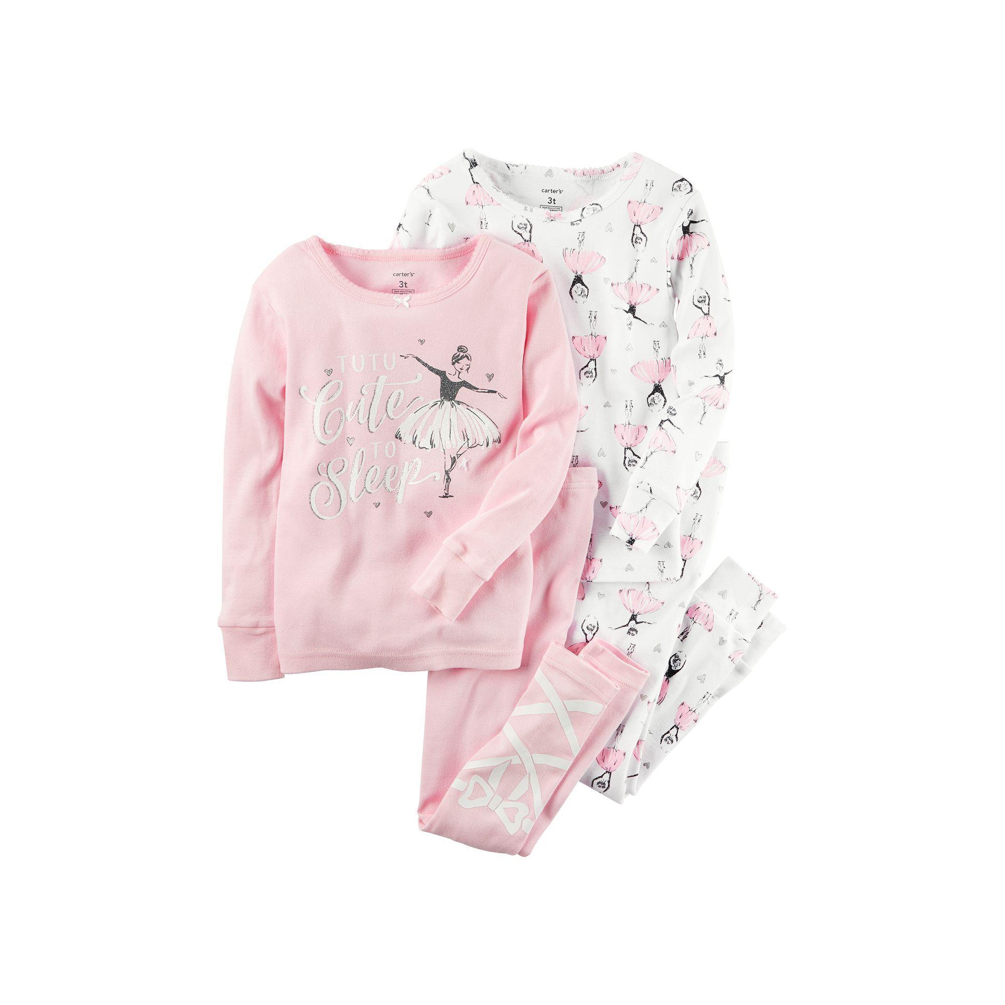 Baby Girl Carter s Ballerina Pajama Set Size 6 Months Pink