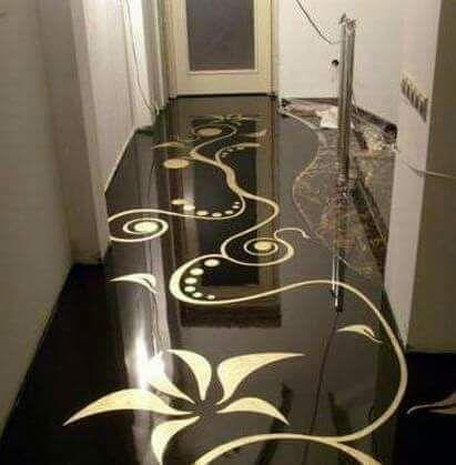 Porcelanato Liquido Ou Resina Epoxi Desenho Em 3d Porcelanato