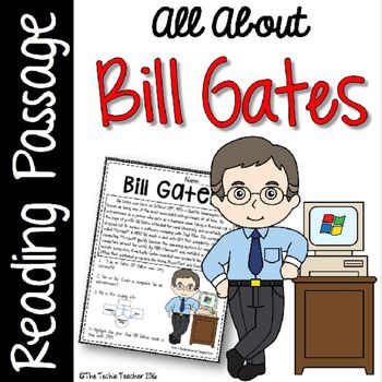 Bill Gates Reading Passage | Reading passages, Bill gates ...