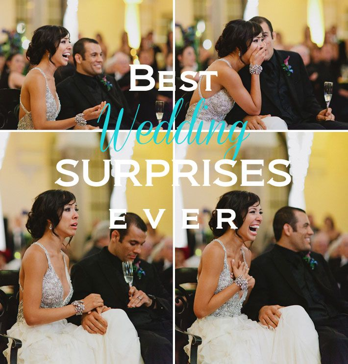 Best Wedding Surprises Surprise Ideas Weddings And