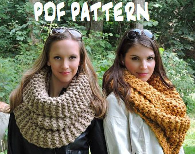 Knitting Scarf Patterns Infinity Scarf : Chunky scarf knitting pattern the strasburg outlander