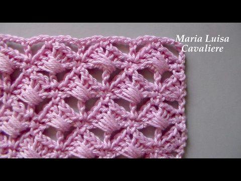 Punto Crochet All Uncinetto.Piccole Conchiglie Intrecciate All Uncinetto Tutorial Youtube