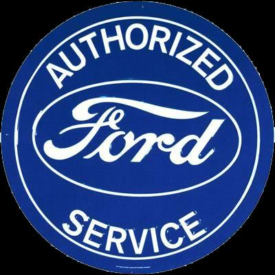 Authorized Ford Service Sign Ford Ford Company Garage Art