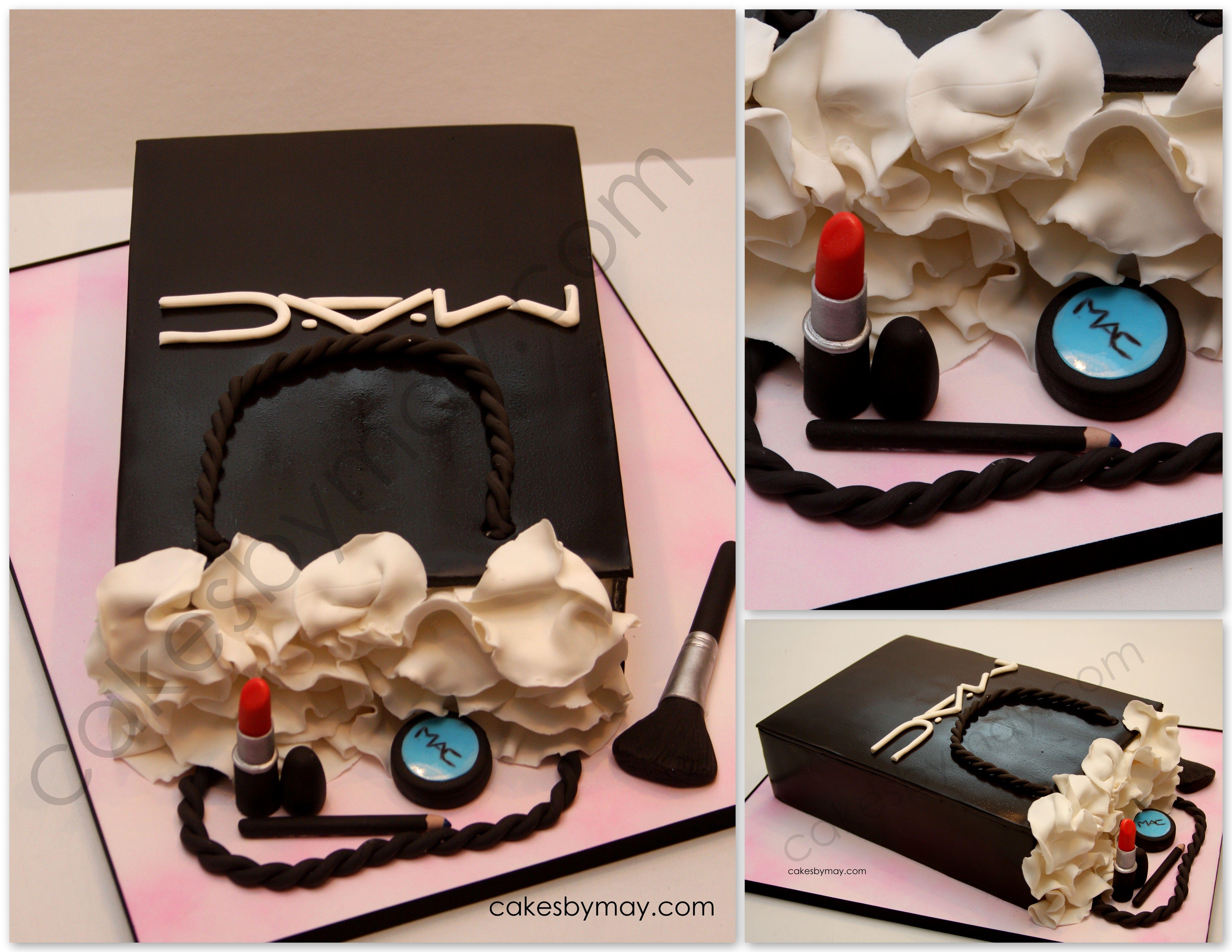 Strange Mac Cosmetics Shopping Bag Mac Cake Bag Cake Make Up Cake Personalised Birthday Cards Sponlily Jamesorg