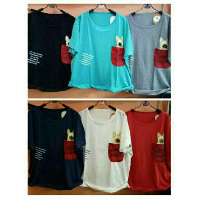 Saya menjual Kaos wanita / jumbo dog pocket / kaos lengan pendek wanita / XXL seharga Rp55.000. Dapatkan produk ini hanya di Shopee! https://shopee.co.id/ssfashionkaos/298884867/ #ShopeeID