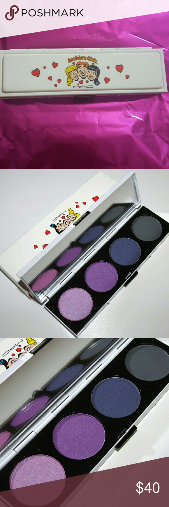 MAC Archie's Girls Eye Shadow Palette SPOILED RICH Brand new, barely used MAC Cosmetics Makeup Eyeshadow