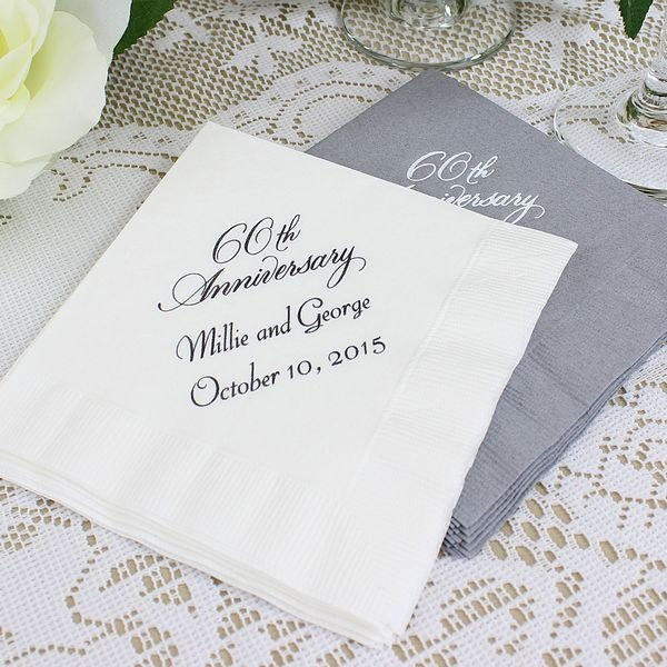 Double Hearts Personalized Wedding Napkins   Printed Napkins Pinterest